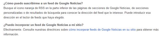 Ayuda Google RSS