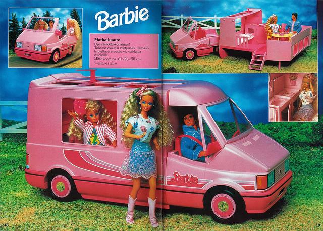 Camping Car Barbie Piscine