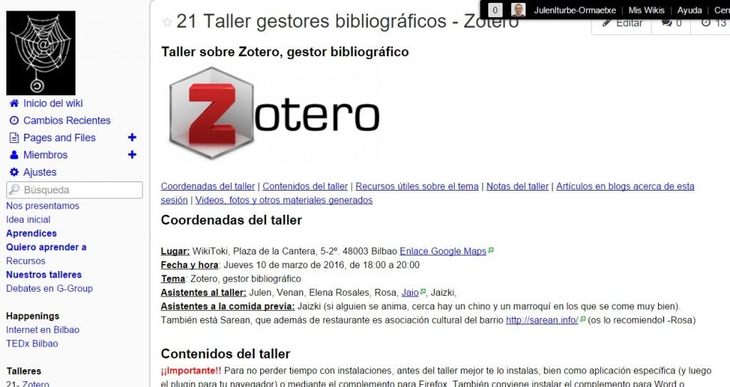 Taller Zotero Aprendices